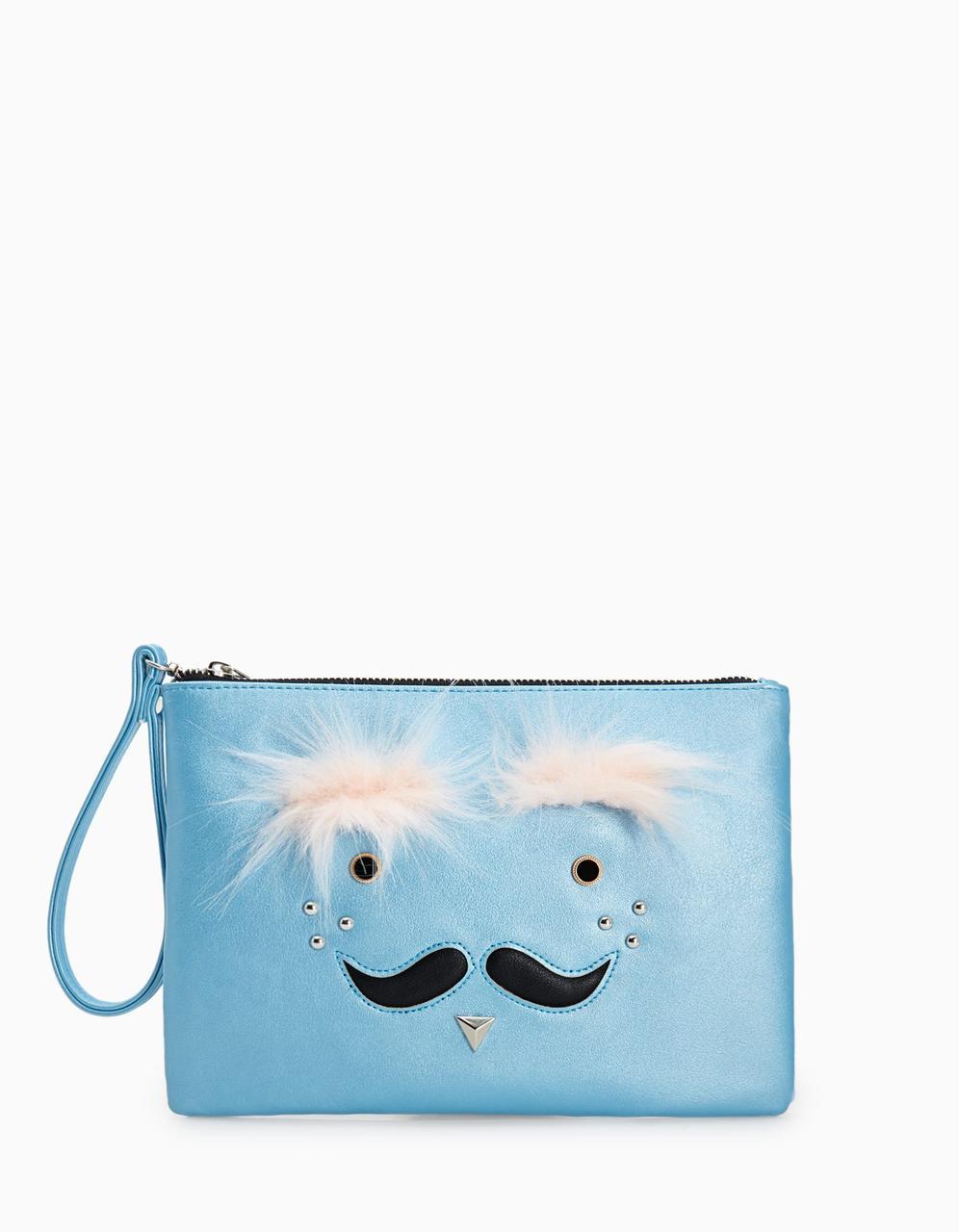 """Клатч Stradivarius """"Усы"""" - женская сумочка - кошелек, сумочки женские"""