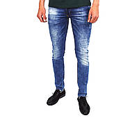 Синие мужские джинсы зауженные MARIO DENIM