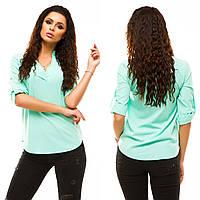 """Стильная женская блузка-рубашка 178 """"Бенгалин Стойка"""" в расцветках"""