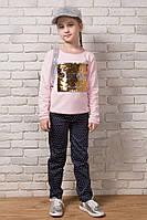 """Детские стильные брюки коттон 050 """"Горох"""""""