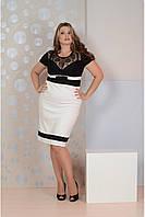 Р48,50,52,54,56,58, 60,62,64,66,68,70,72,74 Прекрасное женское платье большого размера 77067батал черное гипюр