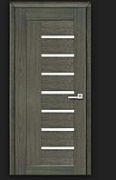 Двери ламинированные ПВХ Фелиция со стеклом сатин Венге