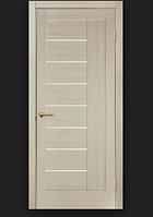 Двери ламинированные ПВХ Фелиция со стеклом сатин Мокко