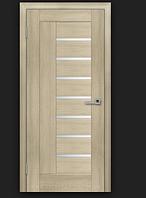 Двери ламинированные ПВХ Фелиция со стеклом сатин Дуб латте