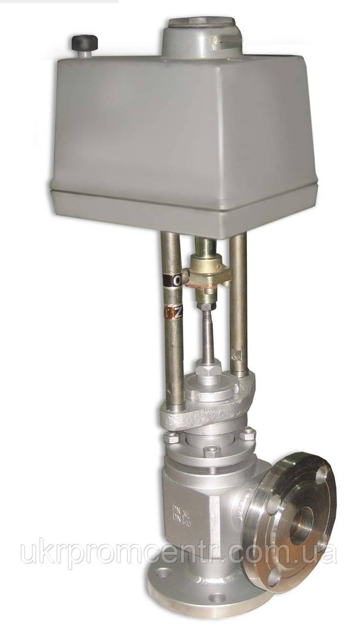 Клапан регулирующий угловой (КРУ) 25с946нж односедельный