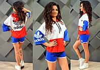"""Женский стильный спортивный костюм с шортами 2102 """"ADIDAS"""""""