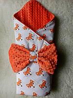 """Конверт-одеяло для новорожденного """"Лисички"""""""