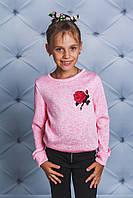 Кофта для девочки с цветком розовая