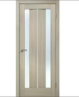 Двери ламинированные ПВХ Стелла стекло сатин Дуб беленый