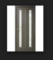 Двери ламинированные ПВХ Стелла стекло сатин Мокко