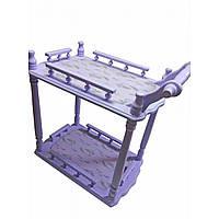 Стол на колесиках сервировочный сиреневый