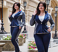 """Элегантный женский пиджак в больших размерах 621 """"PODIUM"""""""