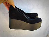 Модные женские черные туфли замш Valery тренд 2017!