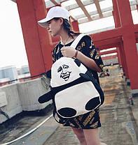 Большой тканевый рюкзак Панда с мемом гримасой, фото 2