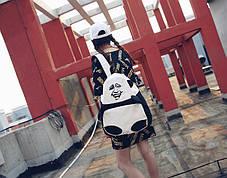 Большой тканевый рюкзак Панда с мемом гримасой, фото 3