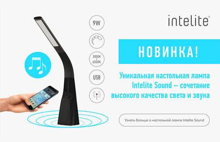 Заполните ваш интерьер светом и звуком! Благодаря настольной лампе INTELITE DESKLAMP SOUND
