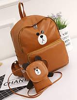 Модный городской рюкзак медведь с сумочкой , фото 3