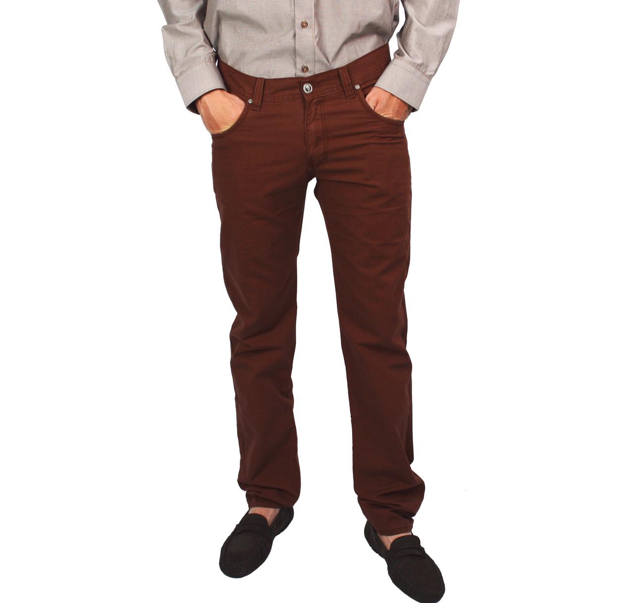 Коричневые мужские джинсы прямые LE GUTTI
