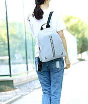 Повседневный городской рюкзак с заклепками, фото 2