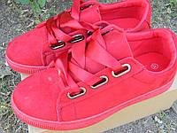 Женские кроссовки-криперы 12155 красные