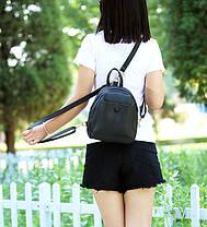 Ніжний міський рюкзак з кнопкою, фото 2