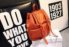 Вместительный городской лакированный рюкзак , фото 3