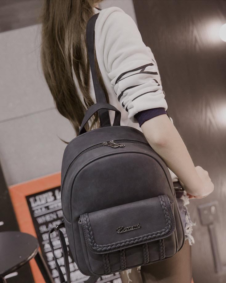 Городской рюкзак с косичками для модных девушек