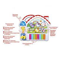Муз разв.орган CY-6047B (T364-D3443) батар.,рус. язык, звуки животных,в короб. 19*16*5,5см
