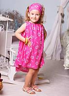 """Летний детский комплект платье + повязка 2180 """"Шанель"""""""