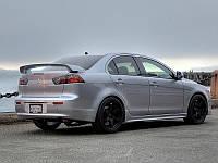 Спойлер Mitsubishi Lancer X 10 стиль Sport (пластик)