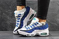 Женские кроссовки Nike 95 белые с синим 3059