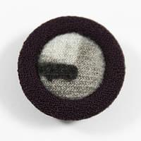 Пуговица И пластиковая, обтянутая тканью, D 26 мм