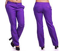"""Женские стильные брюки в больших размерах 055 """"Габардин"""" в расцветках"""