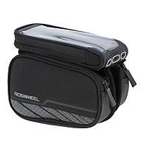 "Сумка Roswheel Premium с боковыми карманами,на раму, для телефона до 6.0"""