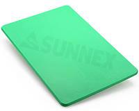 Доска разделочная полипропилен зеленая 510*380*13мм HACCP Sunnex