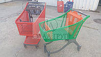 Пластиковая тележка для магазина на 130 литров