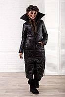 """Женское тёплое длинное пальто на синтепоне 2057 """"Королева"""""""