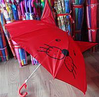 Милые детские зонты с ушками и мордочкой, с свистком Трость