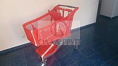 Пластиковая тележка для супермаркета на 175 литров