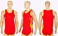 Форма для легкой атлетики мужская X-511M-R (полиэстер, р-р XL-4XL, красный)