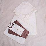 """Зимовий конверт-ковдра для новонароджених """"Аристократ"""" шоколадний, фото 2"""