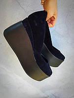 Модные женские темно-синие туфли замш Valery тренд 2017!
