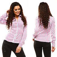 """Женская стильная рубашка 179 """"Цветная Полоска"""" в расцветках"""
