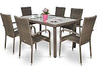 Комплект мебели из техноротанга FIESTA Brown Caffe