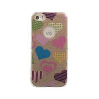 Чехол силиконовый Mask Collection Разноцветные сердечки для iPhone 5