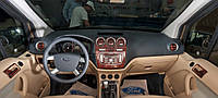 Ford Connect 2010-2014 гг. Накладки на панель (большой комплект) Дерево