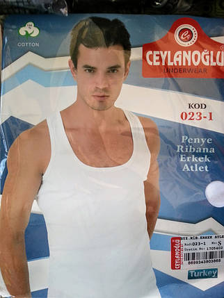 Белая майка рибана Ceylanoğlu 023-1, фото 2