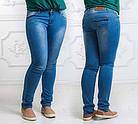 Женские летние стильные джинсы до больших размеров 002