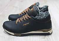 Зимние кожаные кроссовки ECCO