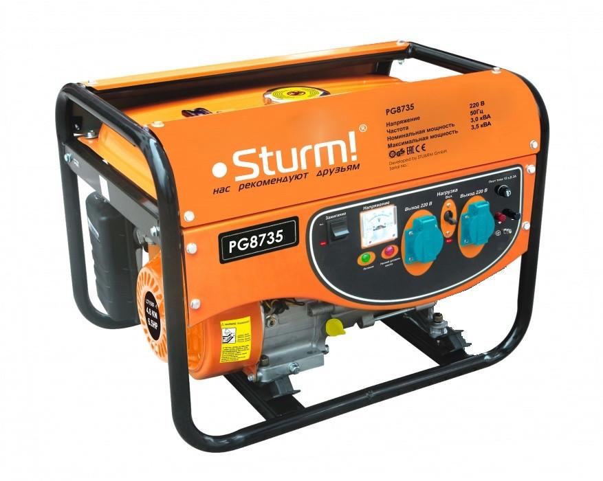 Генератор бензиновый 3500 Вт Sturm PG8735